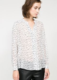 Glasses print shirt