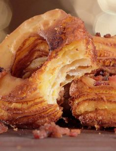 Candied bacon covered grilled cheese cronuts are the bomb. Made with Pillsbury crescent rolls. Churros, Bacon Recipes, Cooking Recipes, Donuts, Candied Bacon, Bacon Bacon, Sorbets, I Love Food, Breakfast Recipes