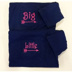 Big Little Sorority Shirts Sorority Family Pocket Tees Comfort Colors... ($20) ❤ liked on Polyvore featuring tops, t-shirts, white, women's clothing, pocket tee, short sleeve t shirt, short sleeve shirts, embroidered t shirts and t shirts