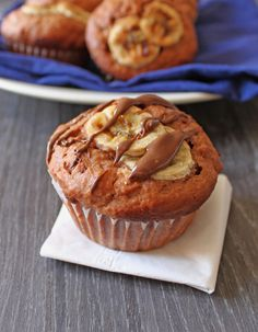 Banana Nutella Muffin 1