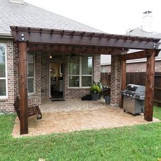 These free pergola plans will help you build that much needed structure in your backyard to give you shade, cover your hot tub, or simply define an outdoor space into something special. Building a pergola can be a simple to… Continue Reading → Backyard Patio Designs, Backyard Pergola, Backyard Projects, Backyard Landscaping, Backyard Ideas, Pergola Swing, Pergola Ideas, Backyard Covered Patios, Wisteria Pergola