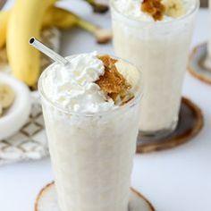 Caramelized Banana Bourbon Milkshakes. #recipe #milkshake #yum