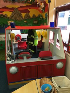 Fire Engine Role Play. People who help us.