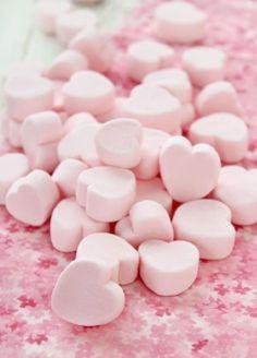 pink heart marshmallows