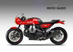 """MOTO GUZZI 940 """"SPORT"""" on Behance"""