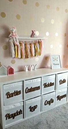Girls Room Design, Girl Bedroom Designs, Pink Bedroom For Girls, Little Girl Rooms, Toddler Girl Rooms, 4 Year Old Girl Bedroom, Ikea Girls Bedroom, Little Girls Playroom, Girl Bedrooms