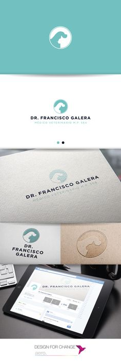 Corporate image design for veterinary clinic design by Aero Studiodesign. Diseño de imagen corporativa para clínica veterinaria diseñada por Aero Studiodesign.