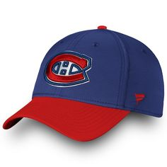 8c223b2f99243 Men s Montreal Canadiens Fanatics Branded Blue Red Iconic Tech Speed - Flex  Hat
