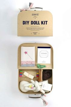 Items similar to Craft Kit for Peg Dolls / Waldorf Craft / Wooden Doll Kit on Etsy Diy Kits For Adults, Craft Kits For Kids, Diy For Kids, Diy Doll Kit, Craft Packaging, Cardboard Packaging, Craft Box, Diy Crafts Box, Fathers Day Crafts