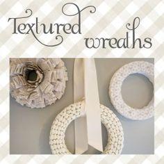textured wreaths