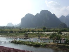 View of Vang Vieng from our Hostel | Flickr - Photo Sharing!