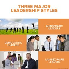There are 3 major leadership styles, developed by psychologist Kurt Lewin. 1. Autocratic leaders - Makes decisions without consulting their team; leads by fear or intimidation. 2. Democratic leaders - Makes final decisions after consulting the team. 3. Laissez-faire leaders - Gives their team freedom in how they do their work, and how they make decisions.