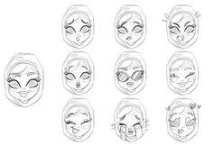 Sketch Khaleeji woman emoji Expressions Miss Chatz