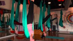 With something like this in your house you could have a swing AND get your daily yoga in ;). @CNN #aerialyoga #usewithcaution #HomeFrontFitness