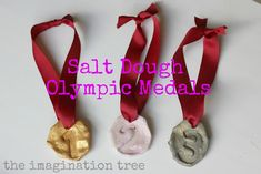 Make Olympic medals from salt dough!