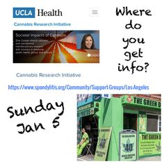 Join SAA's Los Angeles Education/Support Group for Jan meeting at UCLA Cannabis Research Initiative. Medical Marijuana, Cannabis, Private Yoga Lessons, Feldenkrais Method, Ucla Health, Ankylosing Spondylitis, Pain Management, Physical Therapy, Things To Know