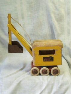 Vintage Brio Sweden Wood Power Shovel W/labels Nr