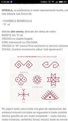 Folklore, Romania, Tattoo Ideas, Projects To Try, Cross Stitch, Bullet Journal, Symbols, Embroidery, Patterns