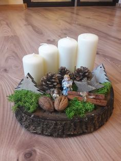 All Details You Need to Know About Home Decoration - Modern Christmas Candle Decorations, Christmas Wood Crafts, Noel Christmas, Christmas Candles, Simple Christmas, Christmas Wreaths, Christmas Ornaments, Deco Table Noel, 242