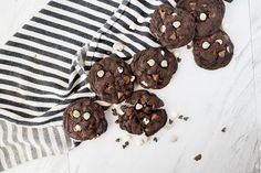 Double Chocolate Chip Cookies are a gooey, rich Chocolate Cookie filled with multiple kinds of chocolate chips. it is meant for the chocolate lover! Chocolate Morsels, Chocolate Lovers, Chocolate Chips, Double Chocolate Chip Cookies, Baked Salmon Recipes, Tasty Bites, Salted Butter, Unsweetened Cocoa, Cookie Dough