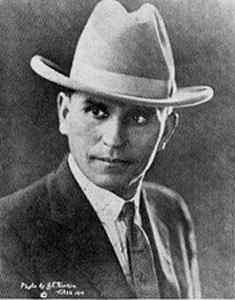 """The Cherokee Badman"" - During his 32 years in crime Henry Starr robbed more banks than both the James-Younger Gang and the Doolin-Dalton Gang put together. He started robbing banks on horseback in 1893 and ended up robbing his last in a car in 1921."