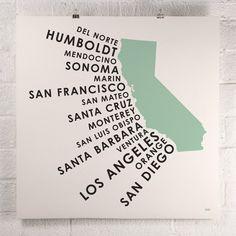 ORANGE & PARK - California Coastal Counties print