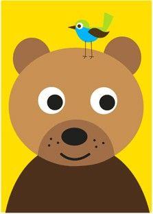 Poster beer geel
