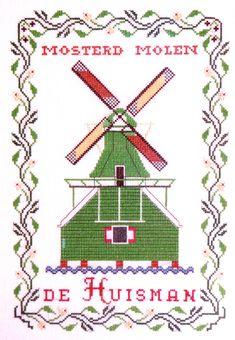 Cross stitch pattern Zaanse schans - de mosterdmolen