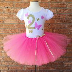 Butterfly Birthday Second Outfit For Girls 2nd