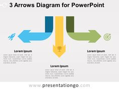 Free 3 Arrows Diagram for PowerPoint