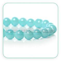 Abalorios de cristal azul Ideal para complementos Frozen www.creabisuteria.es