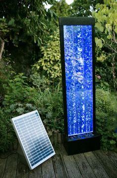 Solar Powered Bubble Water Feature Garden Fountain