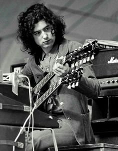 James Patrick Page and his Gibson Double Neck