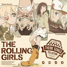 for The Rolling Girls theme songs collection. The rolling girls is a popular anime.Cover for The Rolling Girls theme songs collection. The rolling girls is a popular anime. Rolling Girl, Character Art, Character Design, Popular Anime, Web Design, Manga Covers, Illustration Girl, Graphic Design Posters, Animes Wallpapers