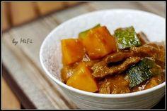 南瓜加zucchini咖喱