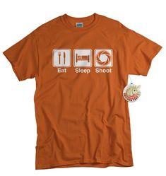Gift For Photographer T-shirt Funny Photography Tshirt DSLR Camera Screen Print Aperture Mens Womens Youth Tee Shirt Eat Sleep Shoot