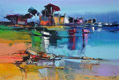 Eric Le Pape, artiste peintre de Bretagne   Peintures de Bretagne : côte bretonne, port de pêche, bateau, mer...