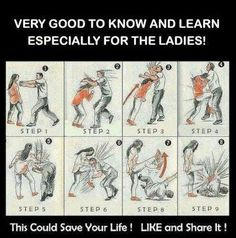 How to fight off an attacker. Women have been for a long time a ideal individual for self defense courses. Safety relates not only how a physical space protects, but also how an individual can protect themselves. Self Defense Women, Self Defense Tips, Self Defense Techniques, Survival Prepping, Survival Skills, Survival Gear, Wilderness Survival, Outdoor Survival, Survival Essentials