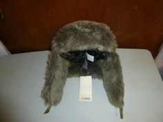 Mens Eddie Bauer Down Down Aviator Hat Trapper Hat With Earflaps L/XL 500 Down Fill Topaz