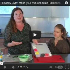 Healthy Byte: Make your own non-toxic Halloween Make Up http://www ...