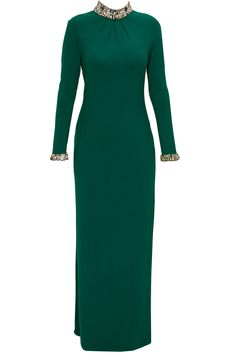 Teal crusted jewel gown available only at Pernia's Pop-Up Shop.