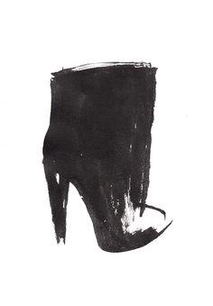 Shoe Sketch - ankle boots, fashion illustration // Mine Vander