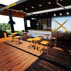 Café container render arq Samy
