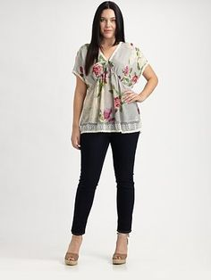 Silk Top #plus #size