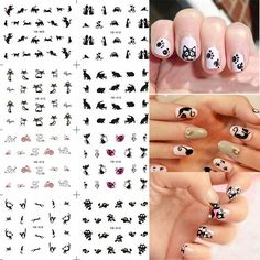 1 Lot = 12 Sheets Black Cat Kitten Water Transfer Nail Art Decal Tips Stickes Manicure Watermark Paper YB409-420 #Manicures Nail http://www.ku-ki-shop.com/shop/manicures-nail/1-lot-12-sheets-black-cat-kitten-water-transfer-nail-art-decal-tips-stickes-manicure-watermark-paper-yb409-420/