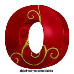 Monica Michielin Alphabets: 3-RED ALPHABET AND GOLDEN ORNAMENT, #iloveyou, #love, #red, #heart, #Jesuslovesyou, #Jesus