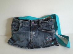 Small Repurposed Denim Skirt Purse with by Recraftination on Etsy