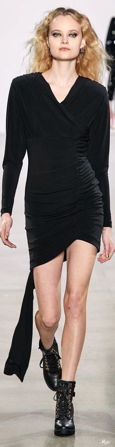Fall 2020 RTW Nicole Miller Fashion Details, Fashion Trends, Nicole Miller, Fashion Labels, Opera, Sweaters, Gloves, Runway, Glamour