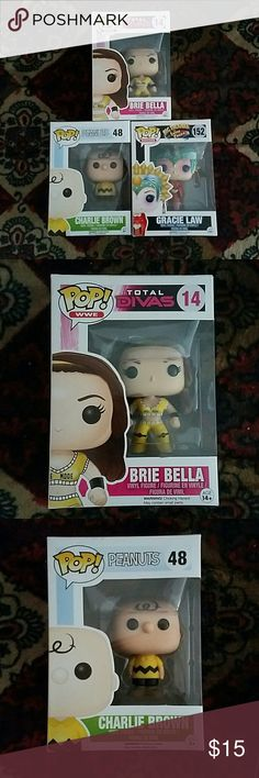 Lot of Funko Pops Charlie Brown, WWE Brie Bella, Big Trouble in Little China Gracie Law Funko Pop Other