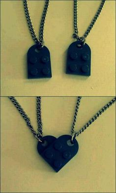 bf/gf matching LEGO necklaces